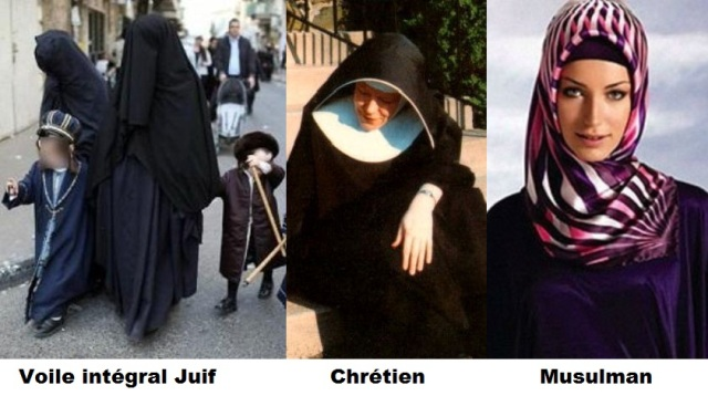 Le voile n 39 est ni arabe ni islamique npa 32 for Juives portent une perruque